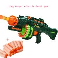 Electrical Soft Bullet Toy Gun Pistol Sniper Rifle Plastic Gun 20 bursts Remote Shooting Gun Toys For Children Kid Gift In Stock