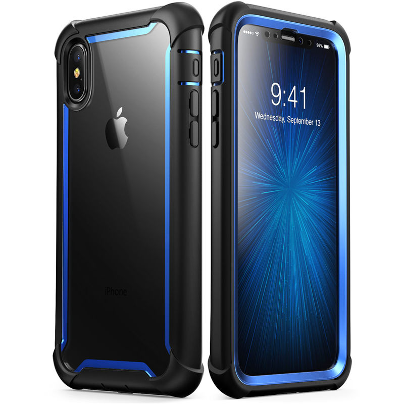 US $19 99 |For iphone Xs Max Case 6 5 inch Original i Blason Ares Series  Full Body Rugged Clear Bumper Case with Built in Screen Protector-in Fitted