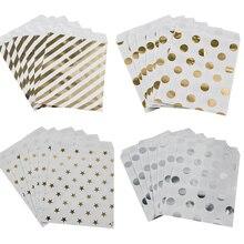 Weigao saco de papel listrado com 25 peças, sacos para presente, decoração de festa de aniversário, sobremesa e doces saco de biscoitos do lanche