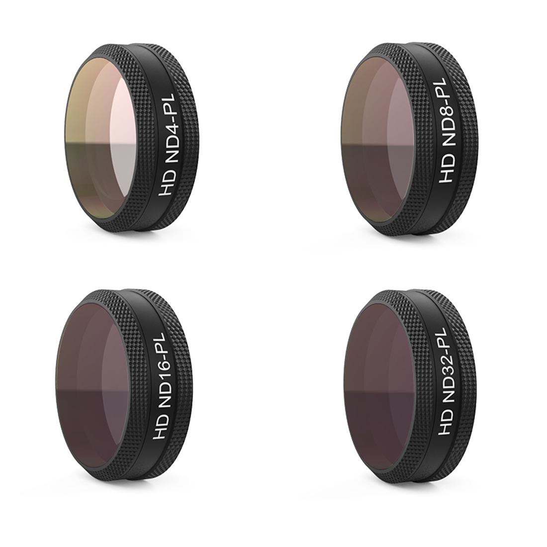 PGYTECH 4Pcs ND4 8 16 32-PL Filter Kit ND-PL Lens Filters for DJI Mavic Air RC Quadcopter Drone Accessories original dji mavic air nd filters set nd4 8 16 for mavic air camera drone filter 3pcs filter dji mavic air accessories