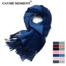 CAVME CUSTOM 2019 Wool Scarf for Women Ladies Men Basic Long Scarves Femme Wrap Shawl 175g 35*200cm 75% 25% Acrylic