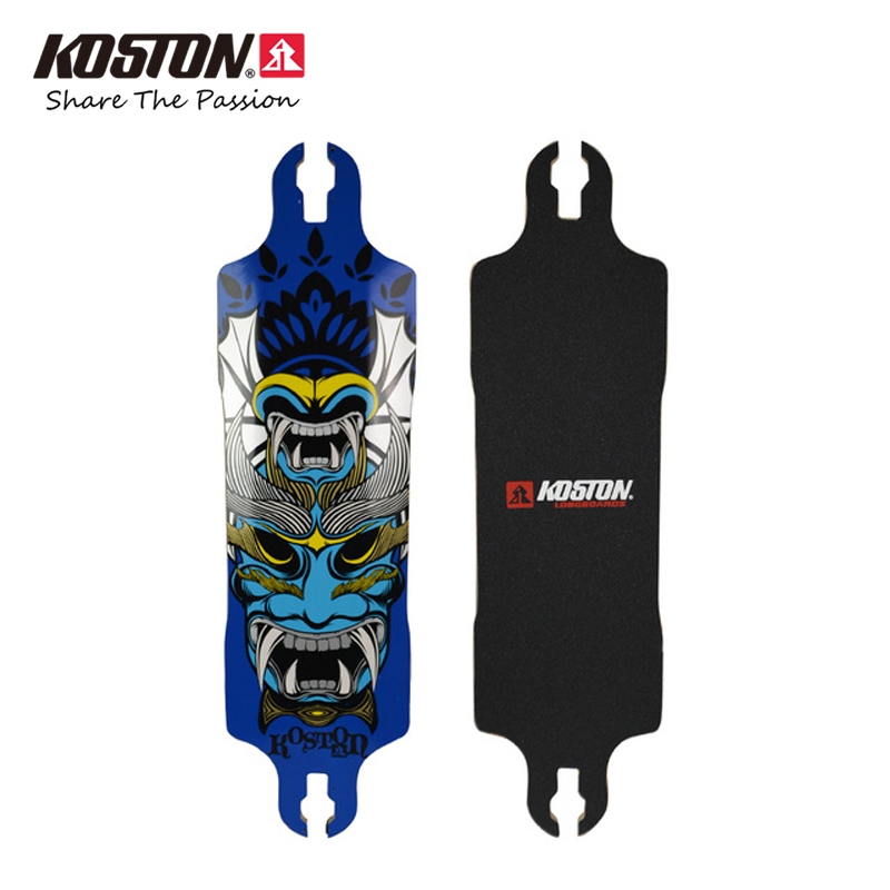 Koston Professional Drop Through Longboard Deck 37.25 Inch 9ply Canadian Maple Laminated Downhill Racing Long Board Decks