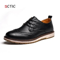 ECTIC Urban Bridal Luxurious Classy Vintage Crocodile Derby Shoes Brogue Men Wingtip Shoe Leather Man Formal Office Meeting