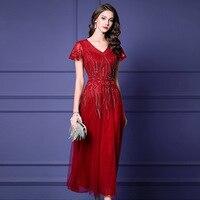 Женское платье тонкое летнее с коротким рукавом Сетчатое с вышивкой с v образным вырезом Платье женское ZS10864
