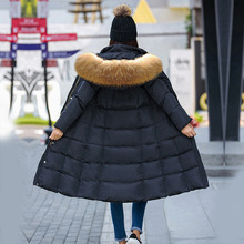 High Quality 2016 Women Parka Winter Jacket Female X-Long White Duck Down Parkas Coat Thick Hoody With fur Winter Down Coat