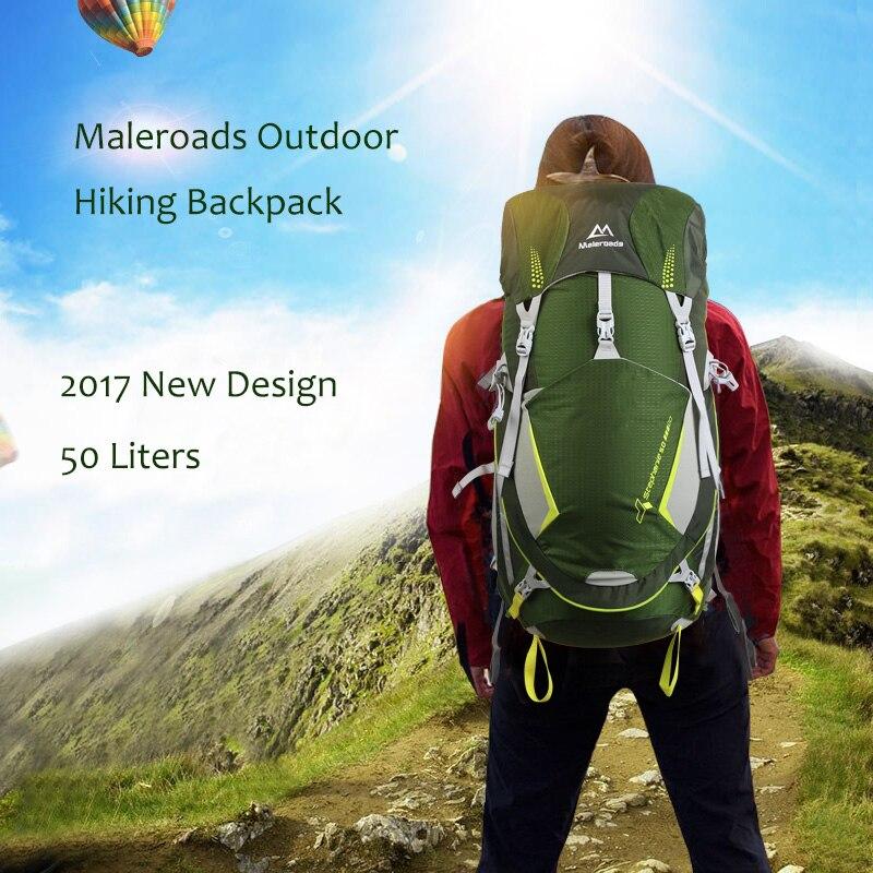 Top qualité Maleroads 50L extérieur étanche unisexe sac à dos Camping randonnée sac à dos sacs de sport voyage sac à dos hommes femmes
