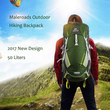 Top quality Maleroads 50L Outdoor Waterproof Unisex Backpack Camping Hiking Backpack Sports Bags Travel Backpack  Men Women