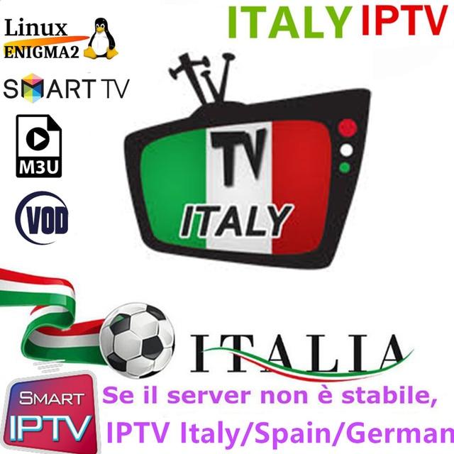 Abbiamo Italia IP ТВ M3u подписки Ip ТВ Италия Великобритания Пособия по немецкому языку медиасет Премиум для Android ТВ коробка Enigma2 Smart ТВ VLC с VOD