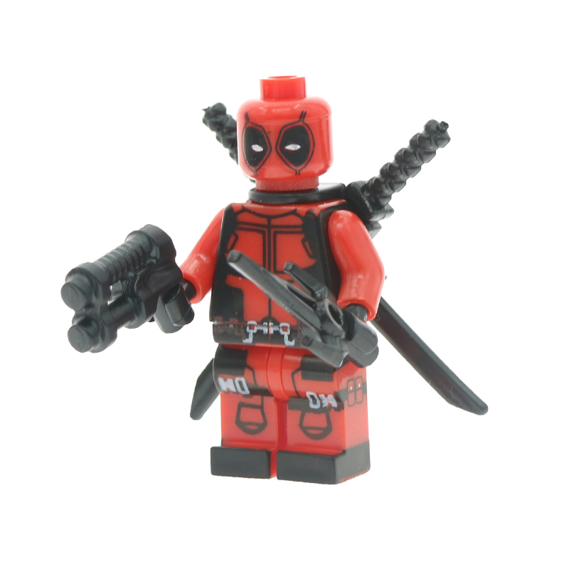 Single Sale Superheroes Marvel Avengers Deadpool With Two Guns One Sword Building Blocks Sets Bricks Figures Toys For Children ...