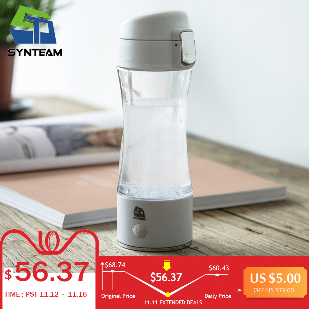 New Health Hydrogen Water Bottle USB Rechargeable Portable Hydrogen Water Maker 350ml Water Ionizer Hydrogen Generator WAC006 rimmel moisture renew rock n rose губная помада увлажняющая тон 370 малиновый 4 г