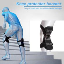 Joint Support Knee Pad Breathable Non-slip Powerful Knee Booster Rebound Spring Force Stabilizer Knee booster For Sports Elder spring knee booster removable spring adjustable knee support pad sleeve knee support knee