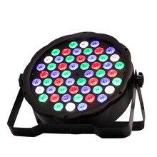 Светодио дный LED Par свет RGBW 54 Вт 3 диско мыть оборудование 8 каналы DMX 512 светодиодные лампы подсветки сценическое освещение свет быстрая доставка