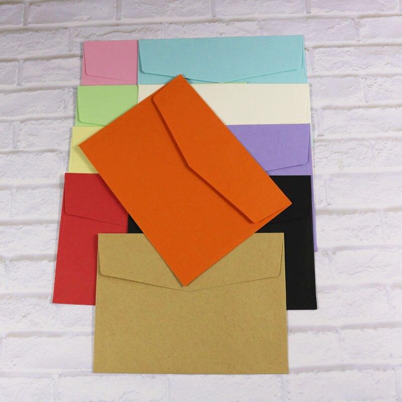10 Stücke Umschläge Mixed Candy Farben Schreibwaren Geschenk Karte Feste Farbe Umschlag Post Karte Foto Brief Lagerung Büro Schule Versorgung Reisen