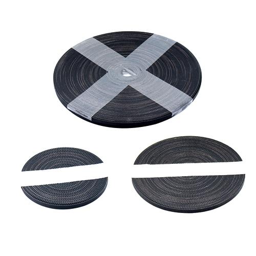 1Pcs Black GT2 10mm Width 2GT Rubber Transmission Timing Belt For 3D Printer Length=10m Meter