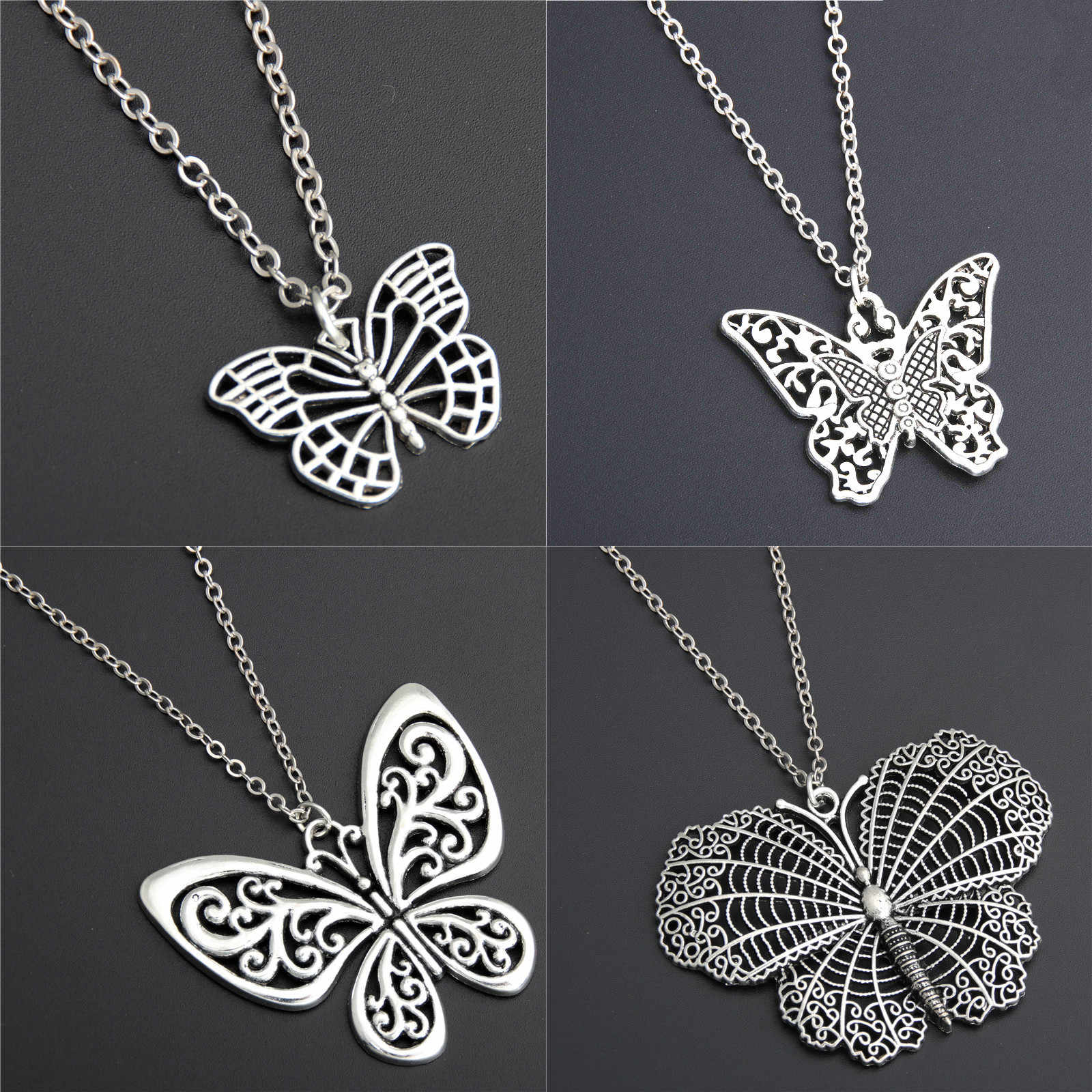 1pc 2019 New Women's Jewelry Butterfly Pendant & Necklace Chain Women Lovely Butterfly Pendant Chain Necklace Jewelry