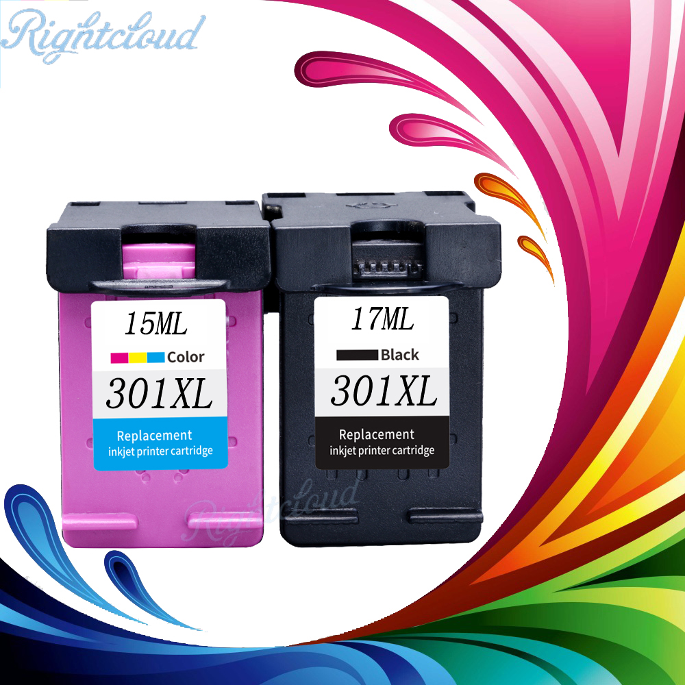 2 Pack 301XL Ink Cartridge Replacement for hp301 For HP 301 xl CH563EE CH564EE for Deskjet