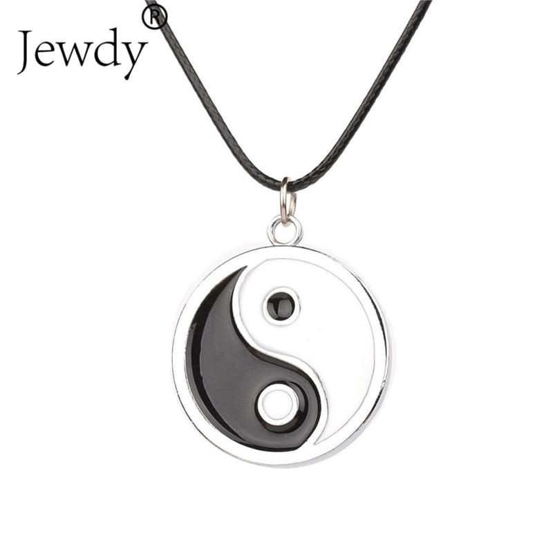 Oceano Oito Diagramas Tai Chi Preto e Branco melhores amigos colar pingente  yin yang colar amizade top das mulheres dos homens de jóias 17fd683d91