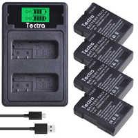 4 Uds 1500mAh EN-EL14 EN-EL14A ENEL14 batería para Nikon D3100 D3200 D3300 D3400 D3500 D5600 D5100 D5200 P7000 + cargador de batería LCD