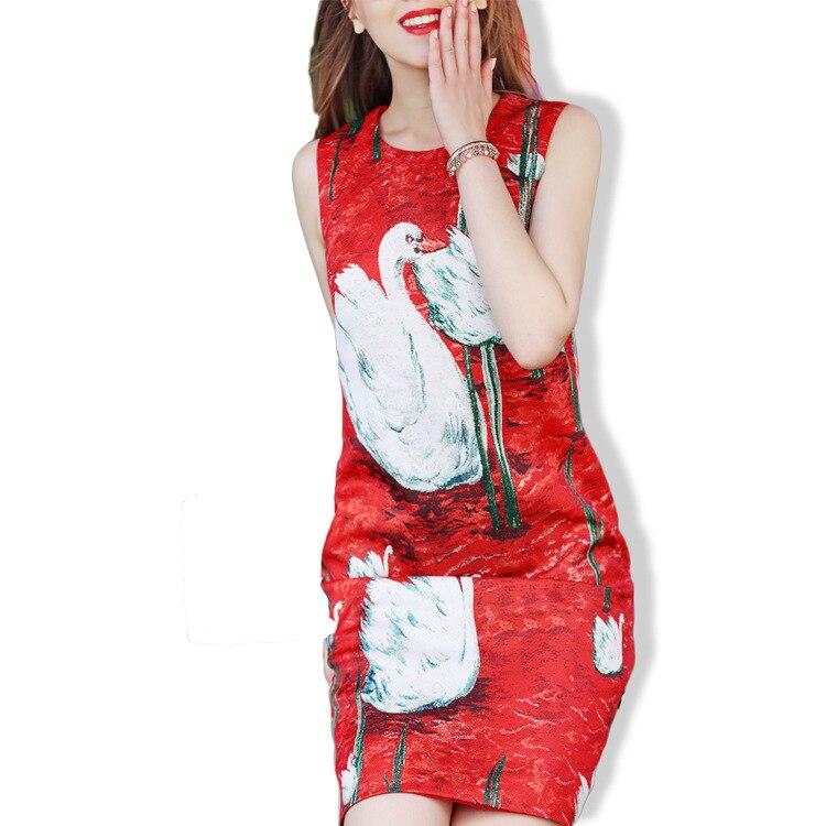 Rond Femme Sans Wechat Cygne Pour Agent Libre Robe Coton Imprimée Femmes Nouveauté 2018 De Limitée Col Manches A6qXHz8