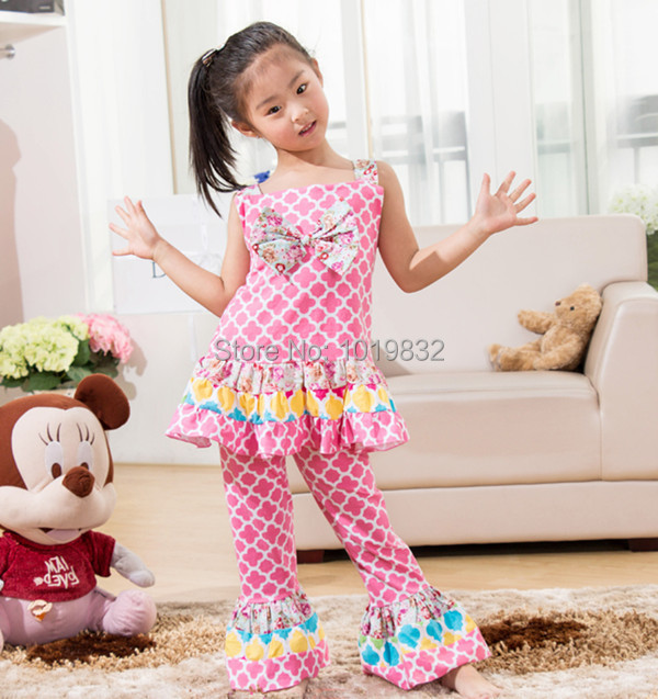 Children Girl Clothing Set Pink Clover Printed Toddler Cotton Birthday Outfit Easter Kids Clothes In Sets From Mother