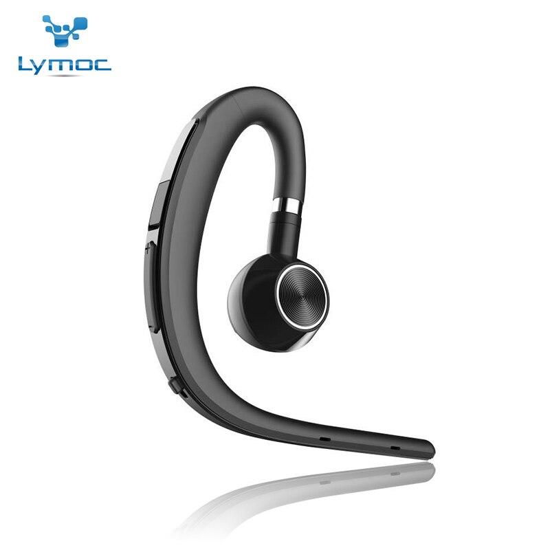 Lymoc atualização y3 + bluetooth fone de ouvido handsfree gancho fones de ouvido sem fio v4.1 cancelamento ruído hd mic música para iphone huawei