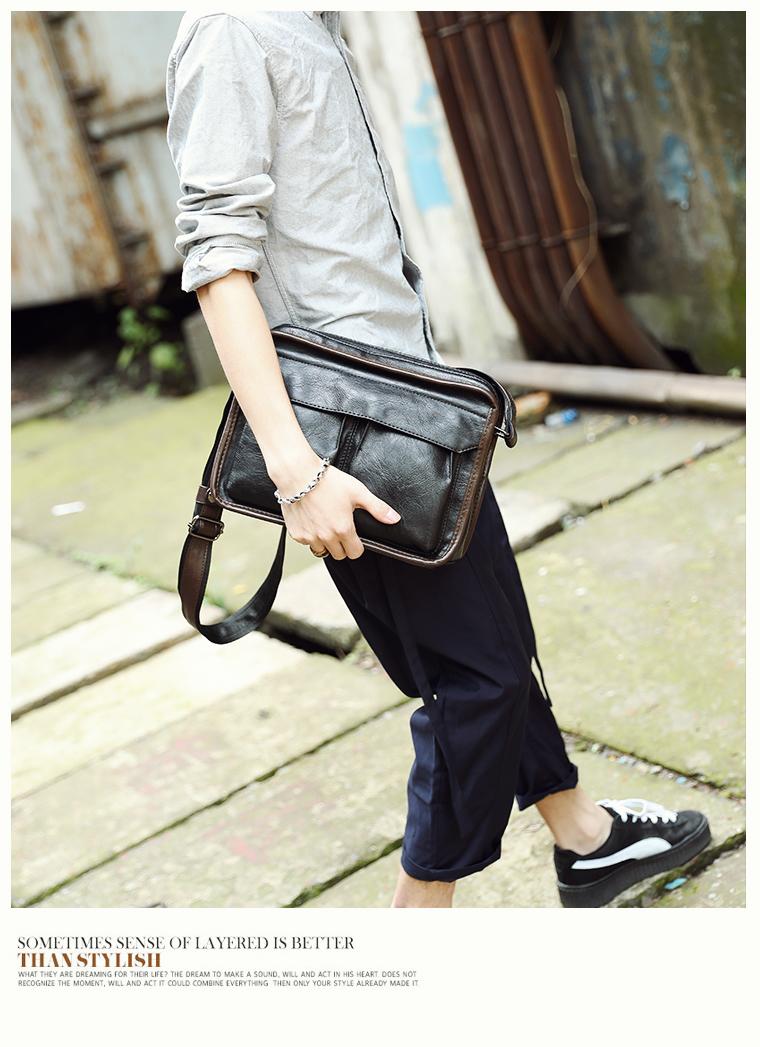 Tidog Business casual bag Satchel singles tide shoulder bag 20