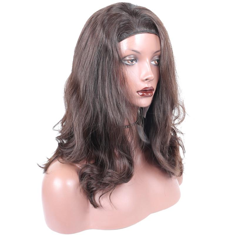 Kosher Jewish Wig Sports Bandfall Slight Lace Front Human Hair Customized Made Natural Wavy 100% European Hair