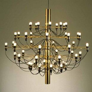 Moderne décoration de la maison 18/30/50 ampoules couleur or lustre salon salle à manger décor lumière cuisine salle à manger barre