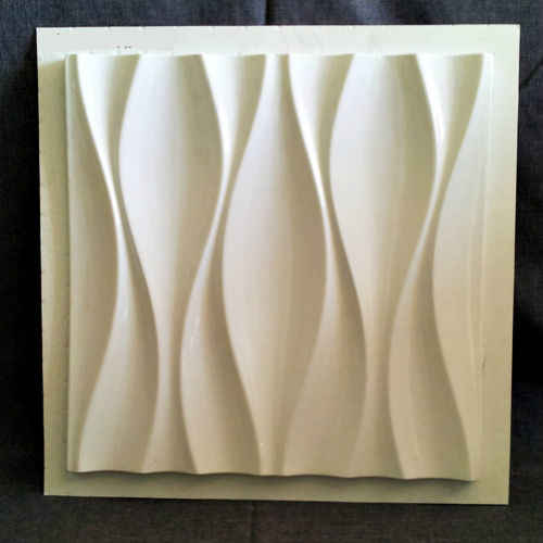 """פלסטיק תבניות צורות 3D דקורטיבי קיר פנלים """"Kyvin"""" מחיר עבור 1 מ""""ר סט של 4 צורות גודל 500x500x30mm"""