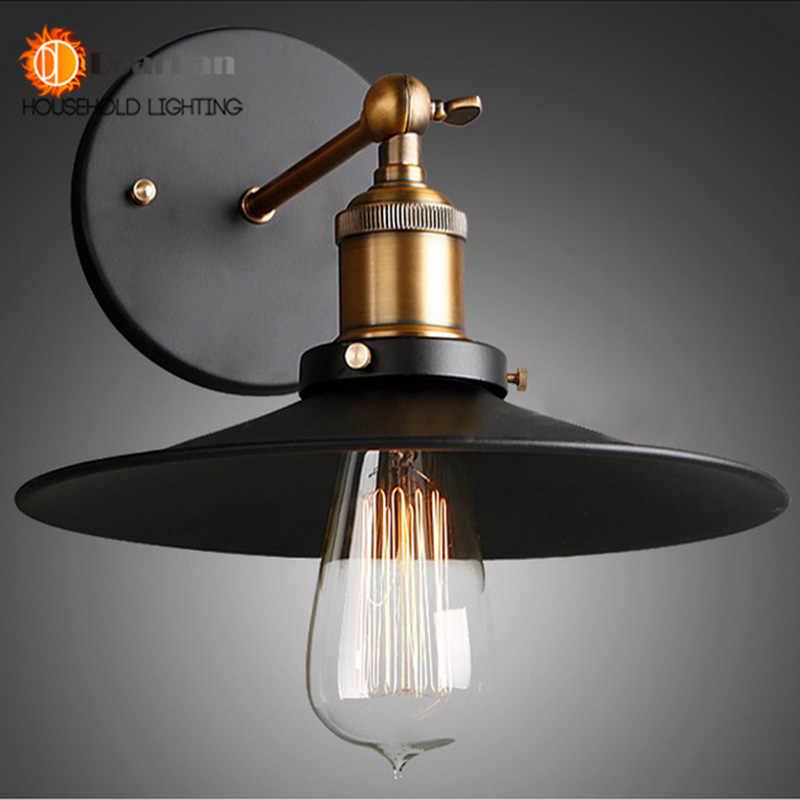 Винтаж Железная лампа Эдисона настенный светильник Современный американский стиль лофт Гостиная Бар обеденная Бесплатная доставка (BK-63)