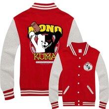 New Danganronpa Hoodies Anime Hooded Winter cotton baseball Coats Jackets Men Sweatshirt