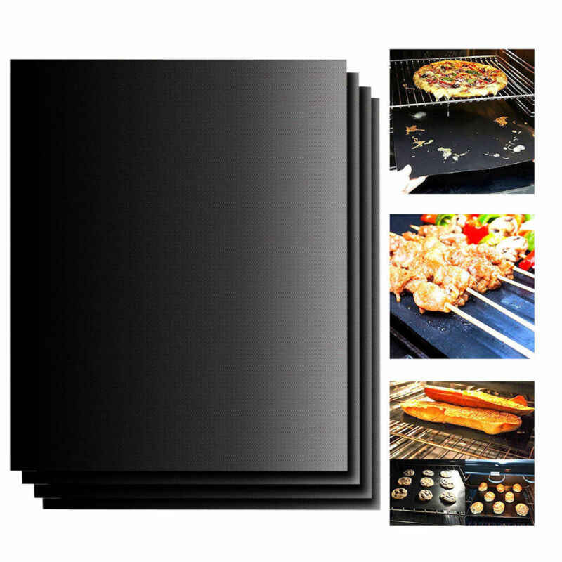 1X Reusable Copper Non-stick Chef Grill Bake Mats BBQ Pad Tool Camping Hiking Home Outdoor For Party Grill Mat Tool dropshipping
