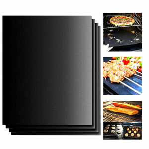 Image 1 - 1X Reusable Copper Non stick Chef Grill Bake Mats BBQ Pad Tool Camping Hiking Home Outdoor For Party Grill Mat Tool dropshipping