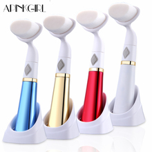 Electric Ultrasonic Vibrating Face Cleanser Machine Waterproof Facial Cleansing Brush Face Massager Brush Face Wash Device Tools hot cleanser electric silica gel wash face ultrasonic cleaning facical brush beauty charge waterproof clean pore device