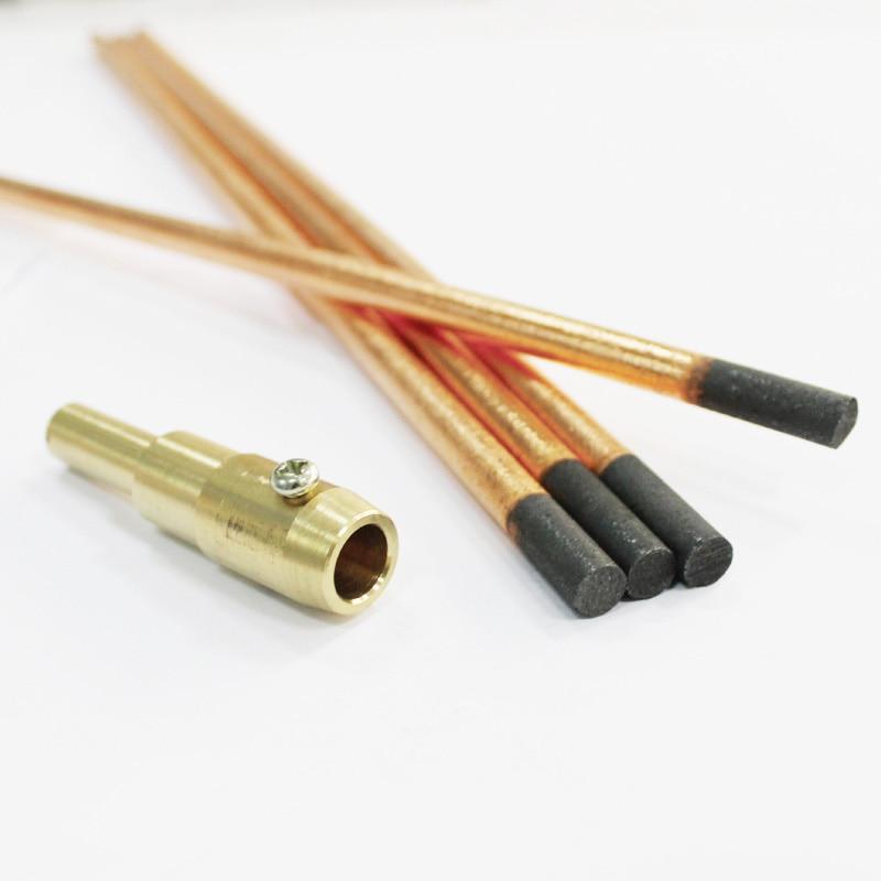 spot welder gun carbon electrodes shrink rod copperclad 8mm car auto dent repair panel reforming graphite arc weld stick bar