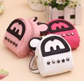 Mini Coin Purse Keychain Bag Rivet Small Leather cartoon Wallet  Key Chain Women Bag Pendant Gifts Free Shipping