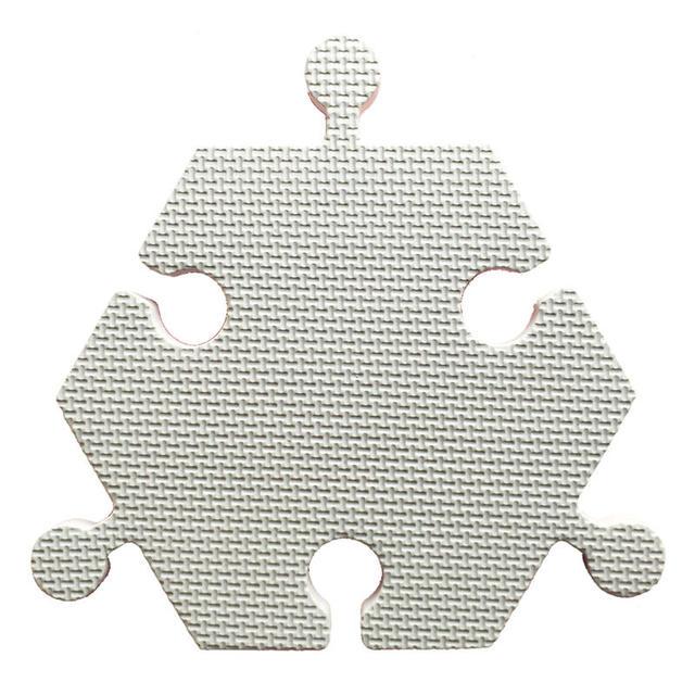 Meitoku baby EVA foam puzzle play mat Polygon Interlocking Exercise floor carpet Tiles Rug for kids 6pc in a bag