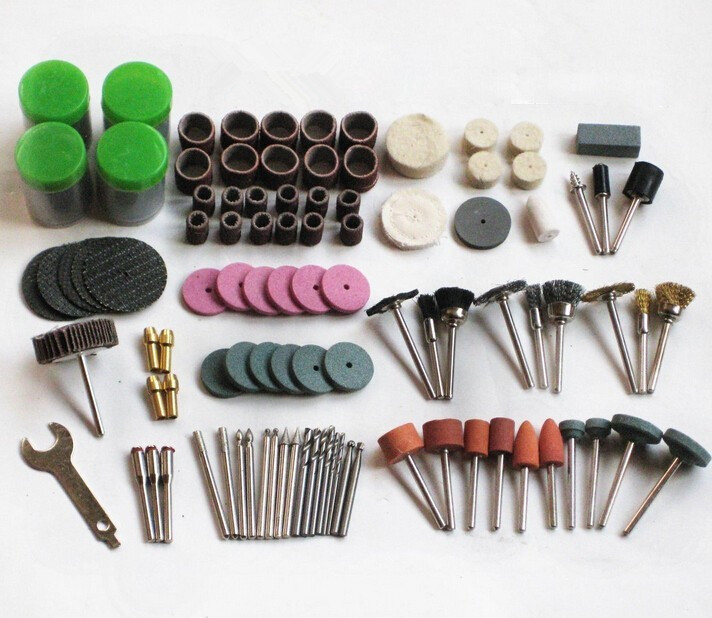 12PCS POLISH WIRE BRUSH WHEEL STONE POLISHING TOOL SET SUITS ROTARY DRILL DREMEL