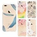 Moda Coque Silicone Para O Iphone 7 4.7 Fundas Floral Colorido Mandala Flor de ameixa pena Limpar Casos de Telefone Tpu Macio Para Trás cobrir
