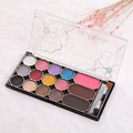 Paleta De Sombra  Beauty Colorful 12 Color Eyeshadow Eyebrow + Blush Palette Cosmetic Shimmer Women Eyeshadow Palette Makeup