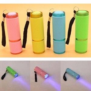 Image 4 - Mini lampe UV Led UV lampe à LED sèche ongles pour ongles en Gel 9 lampe de poche LED portabilité