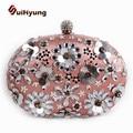 New Women's Bag Fashion Design Crystal Flowers Wedding Small Clutch Purse Diamond Party Evening Bags Woman Rhinestone Handbags