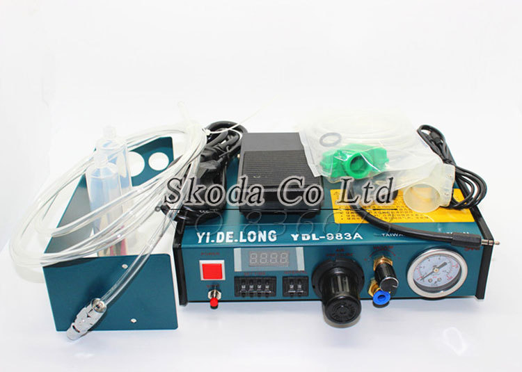 220V Digital display Automatic YDL-983A Glue Dispenser Precise Solder Paste Liquid Controller Dispensing Footswitch control купить дешево онлайн