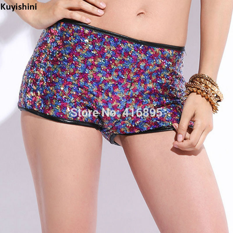 Aliexpress.com : Buy Sexy Girls Club High Waisted Shorts Sequined ...