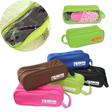 New Eco-Friendly Polyester Portable Travel Storage Bag For Shoes Plastic Waterproof Shoe Bag Organizer Case For Sundries Bags