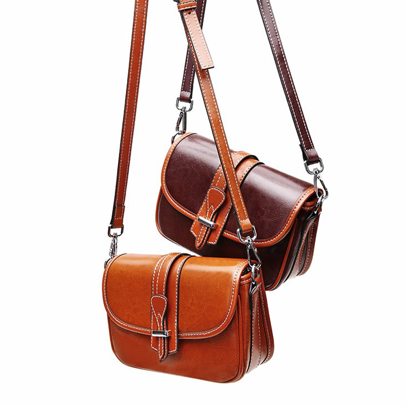 Genuine Leather Women Crossbody Bag Female Messenger Bag Panelled Ladies Shoulder Bag Cow Leather Flap Bag