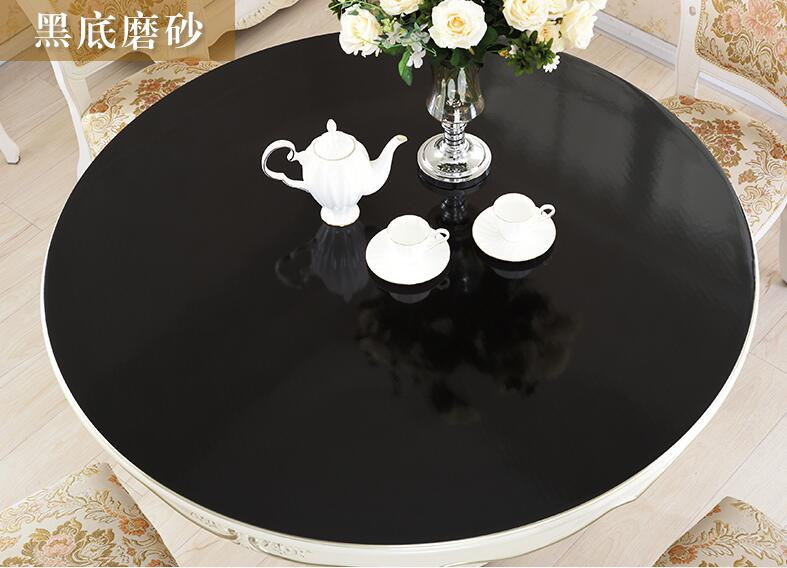Round Transparency PVC Tablecloth Soft Glass Table cloth Waterproof Oilproof Placemat Pad Dia 60-110cm Home Kitchen Diningroom