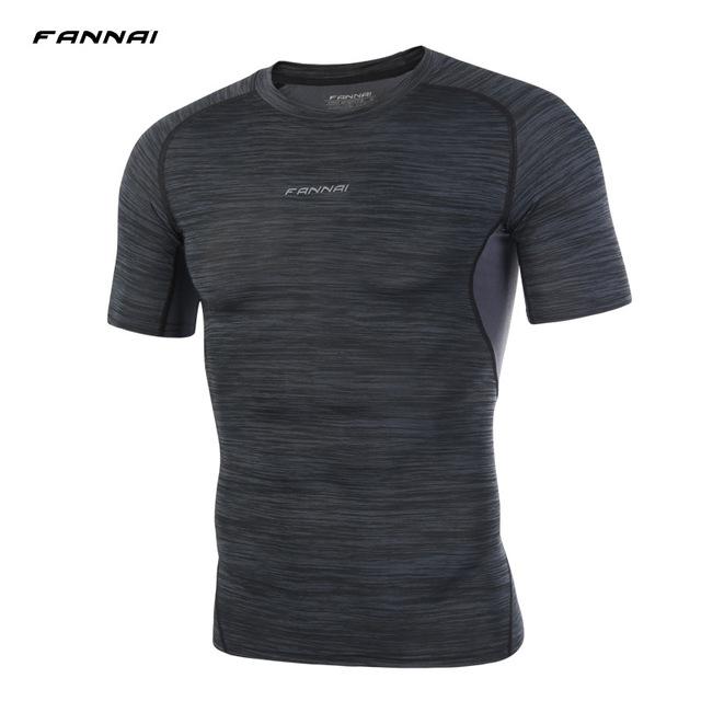 Fannai Brand T Shirt Men Compression T Shirt Fitness
