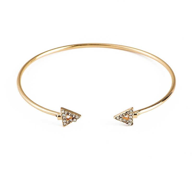 4 sztuk/zestaw wykwintne litery miłość strzałka trójkąt węzeł kaktus łańcuch otwarcia złota bransoletka zestaw kobiety Charm Party biżuteria ślubna