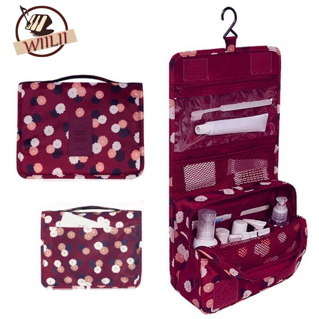 Hanging Toiletry Kit Clear Travel Storage Bag Cosmetic Carry Pockets For Womens Gril Gift Traveling